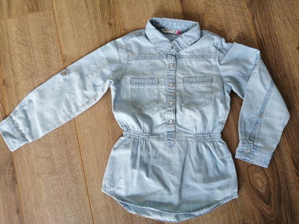 Koszula jeansowa Jeana Reserved 98 dla dziewczynki tunika dziewczęca