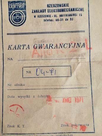 Karta gwarancyjna odkurzacz Alfa K-2
