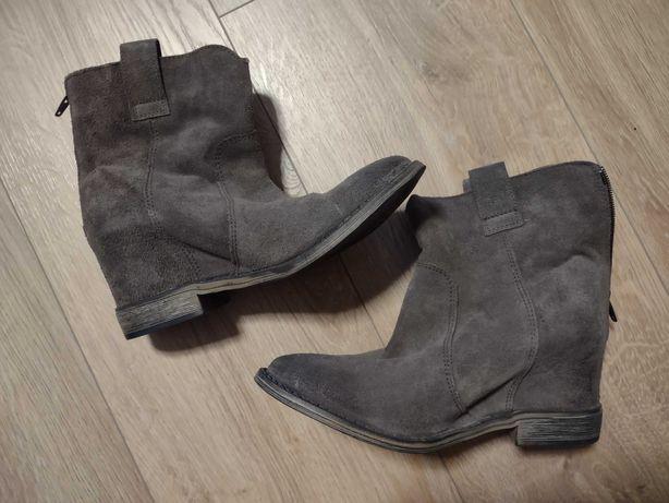 Zamszowe buty 38, stan idealny