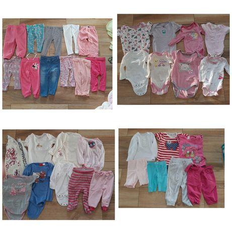 Zestaw paka ubranka dla dziewczynki rozm. 50/56 - 92 cm ponad 200 szt.