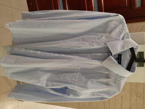 Koszula męska wólczanka niebieska kołnierzyk 45, wzrost 188-194