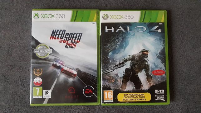 NFS Need for Speed Rivals + Halo 4 XBOX 360 PL