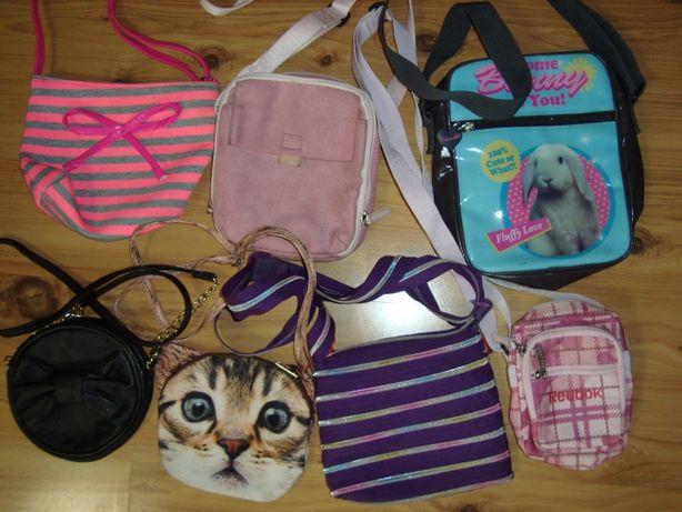 zestaw 7 torebek dla dziewczynki+gratis