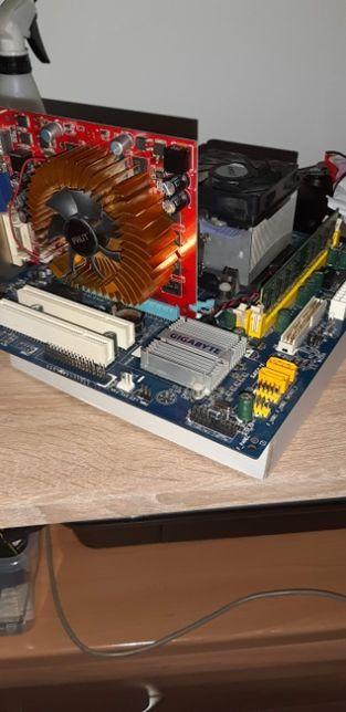 Płyta główna + Procesor + Karta graficzna + Ram