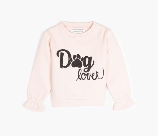 Bluza dresowa dziewczęca rozmiar 134 różowa nowa z metką dog lover