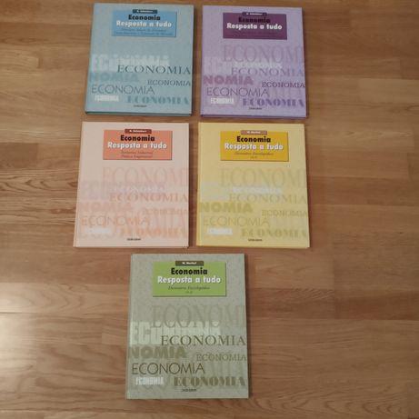 """Coleção de livros """"Economia - resposta a tudo"""" - círculo de leitores"""