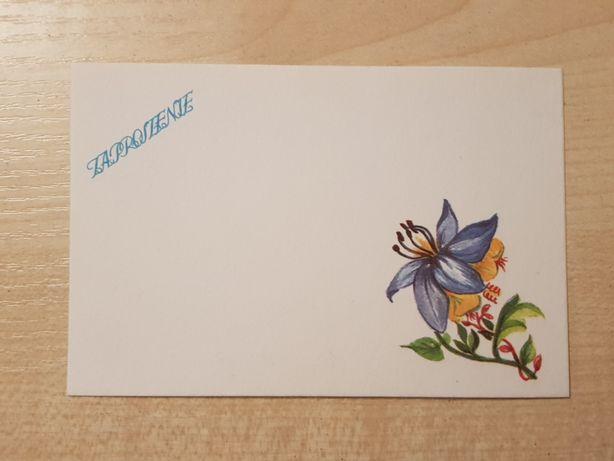Kartki zaproszeniowe zaproszenia karnety stare vintage