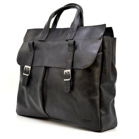 Кожанная сумка для ноутбука 17 TARWA RA-7107-extra Черный