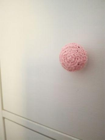 6 Puxadores em crochê - cor-de-rosa bebé para personalizar móvel ikea