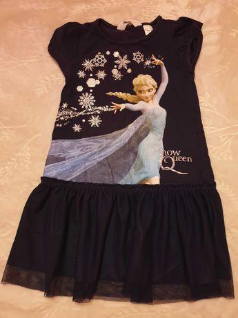 Vestido azul marinho frozen tam 2-4 anos H&M usado em bom estado