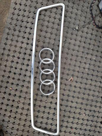 Chrom grilla i znaczek przód a6 c5 przedlift półlift
