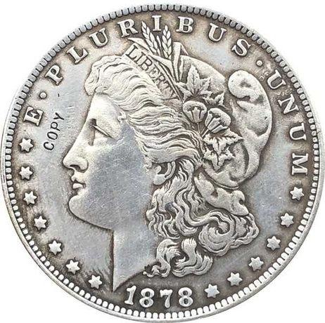 Сувенирная монета 1 Morgan Dollar 1878 СС («Моргановский доллар»)