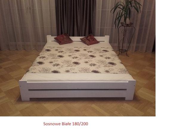 Łóżko łoże z materacem 90,120,140,160,180x200 Białe orzech dąb olcha
