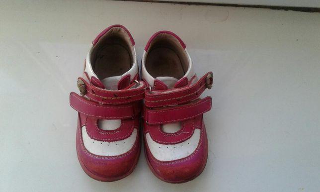 Кроссовки ботиночки демисезонные кожа р.25