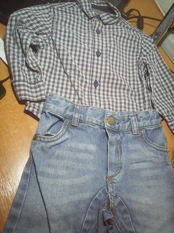 Рубашка и джинсы узкачи 1 - 2 года