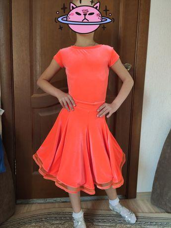 Рейтинговое платье для бальных танцев, бейсик 5-7лет