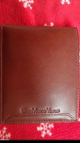 Portfel męski brązowy Venturi skóra nowy prezent