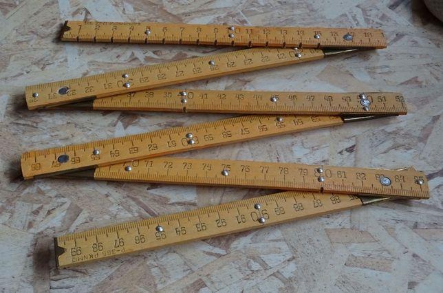 Drewniana składana miara miarka centymetrowa - jak z PRL - u. NOWA