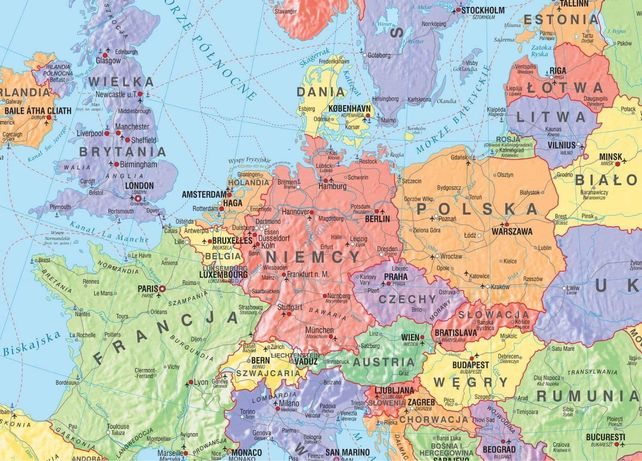 Notatki z geografii mapa polityczna europy solidne notatki