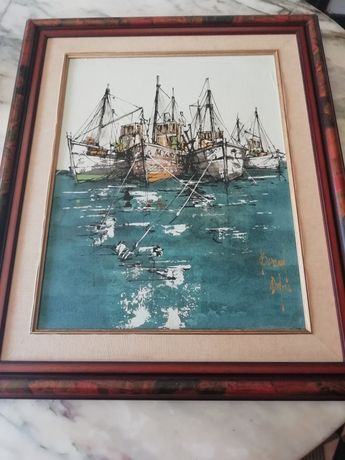 Pintura a óleo em tela
