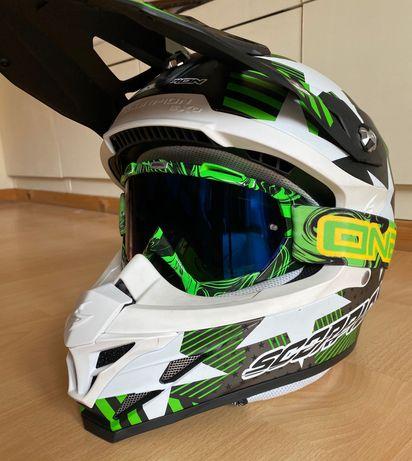 Kask Scorpion + gogle O'Neal enduro/mtb/cross/downhill/motocyklowy