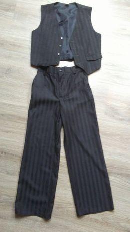 Spodnie + kamizelka chłopięce r.122 na uroczystości