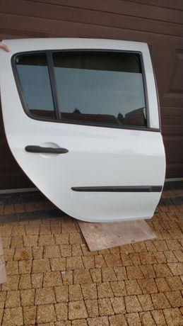 Drzwi prawy tył Clio III 3 kolor OV369 BIAŁE