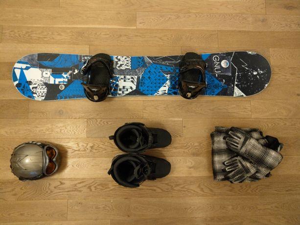 Snowboard GNU Catbon Credit 162w + Ride KS + Salomon Dialogue 315mm
