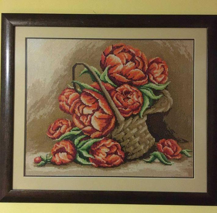Obraz ręcznie haftowany Dębica - image 1