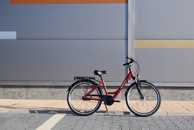 "Rower miejski damka Winora Hollywood 26"" bordowy Nexus 7"