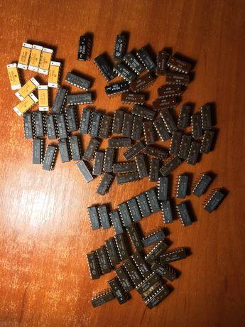 Микросхема К172ЛИ1 , К176ЛА7 , К155ЛН5 , МТ4264-15 , MN4164P-12A