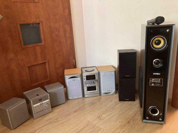 Wieża, głośniki, kolumny, dvd