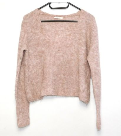 Różowy sweter melanż oversize r. 40