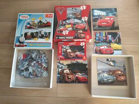 Puzzle Auta Tomek i przyjaciele duże elementy 4w1 dla dziecka Trefl