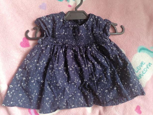 Luźna sukienka tunika Marks & Spencer r. 68 - 74