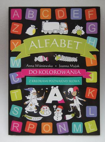 ALFABET książka-kolorowanka duża 30x50 cm NOWA