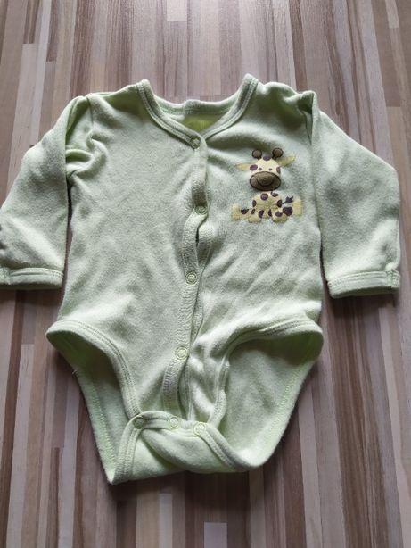 Zielone body z żyrafką rozmiar 62
