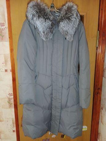 Пуховик зимняя куртка-пальто в состоянии новой вещи.44-46р