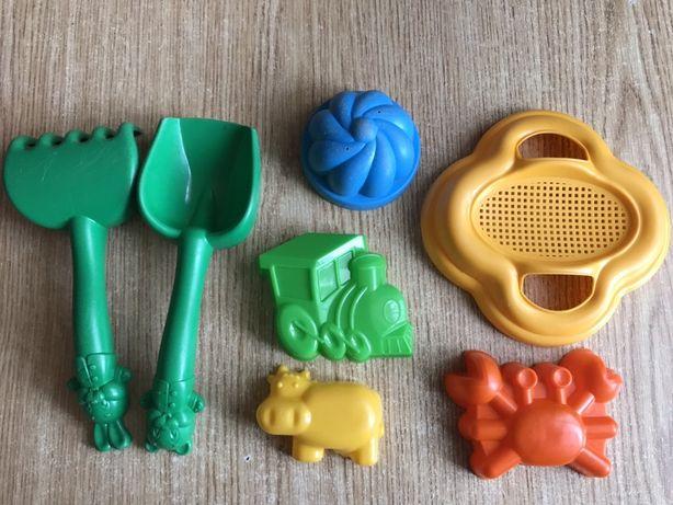 Набор для песка : лопатка, грабли, сито, пасочки