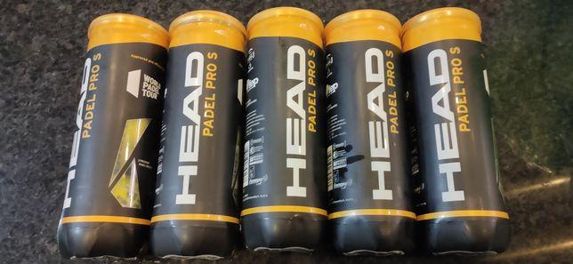 Bolas Padel Head Pro S (4/5 jogos, como novas) - 5 caixas de 3 bolas