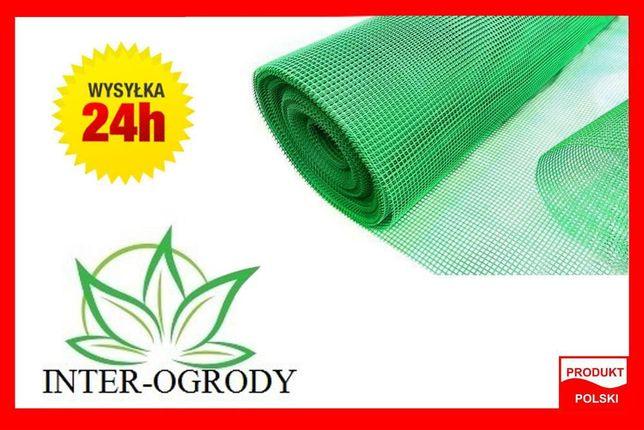 Siatka ogrodzeniowa,techniczna plastikowa 1.20x50m. 7x7mm. Zielona PCV