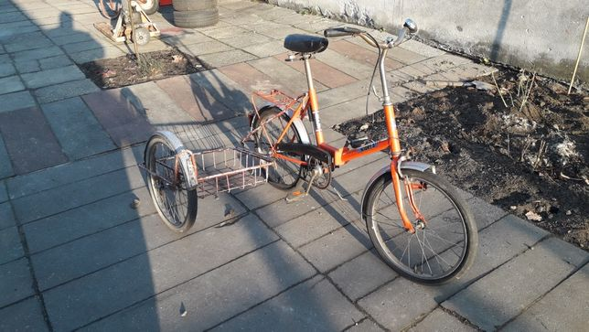 Wigry 3 skladak z wozkiem bocznym przyczepka rowerowa