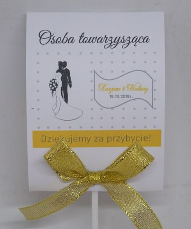 Lizaki - Winietki Pamiątka Prezent Podziękowanie dla Gości Ślub Wesele