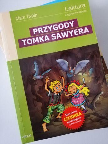 """Książka, lektura """"Przygody Tomka Sawyera"""" z opracowaniem"""