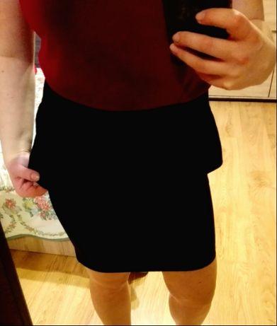baskinka spódnica dopasowana baskinką czarna s 36 house elegancka sexy