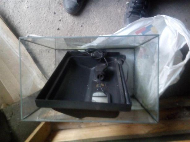 Аквариум с крышкой - размер 40х35х25 см- 35 литров
