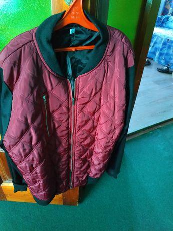 Куртка бомбер кофта женская. 50 размер. Красный черный.