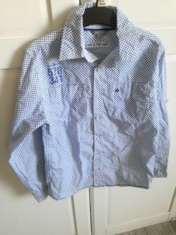 Koszula rozpinana dla chłopca rozmiar 134/140 jak nowa