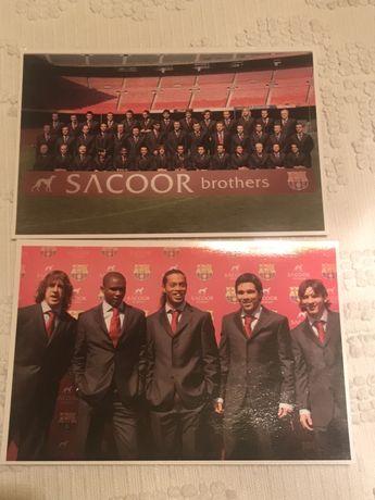 Cartoes tipo postal comemorativos liga campioes 2005/2006 barcelona