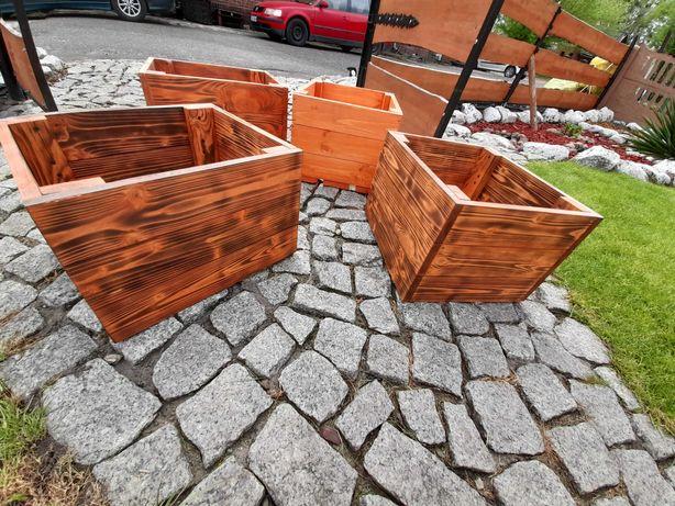 Donica Ogrodowa Drewniana / Donice na kwiaty/Skrzynia pod wymiar